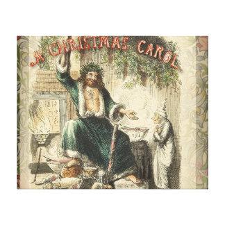 Vintage Scrooge Ghost of Christmas Present Canvas Print