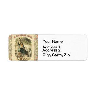 Vintage Scrooge Ghost of Christmas Present Return Address Label