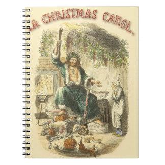 Vintage Scrooge Ghost of Christmas Present Notebooks