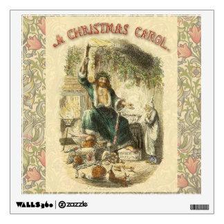 Vintage Scrooge Ghost of Christmas Present Wall Skins