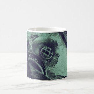 Vintage Scuba Diver Industrial Welding Underwater Coffee Mug