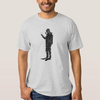 Vintage SCUBA Diver with Double Hose Regulator T Shirt