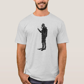 Vintage SCUBA Diver with Double Hose Regulator T-Shirt
