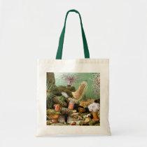Vintage Sea Anemones, Marine Life Ocean Animals Tote Bag