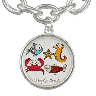 Vintage Sea Animals Charm Bracelet