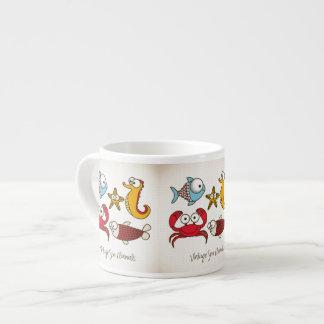 Vintage Sea Animals Espresso Mug