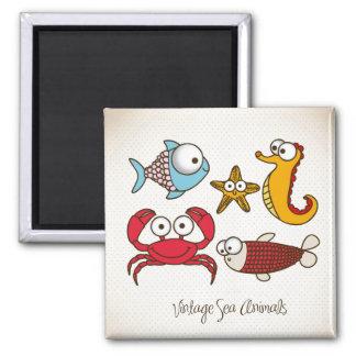 Vintage Sea Animals Magnet