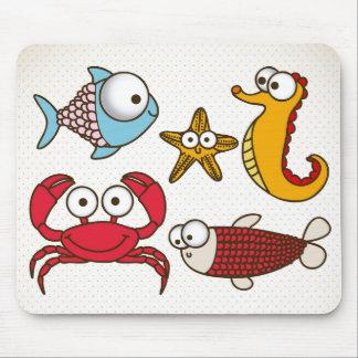 Vintage Sea Animals Mousepads