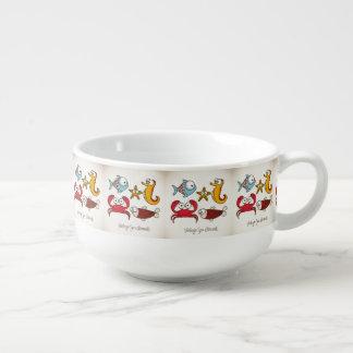 Vintage Sea Animals Soup Mug
