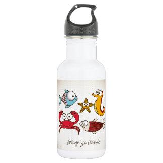 Vintage Sea Animals Stainless Steel Water Bottle