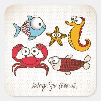 Vintage Sea Animals Sticker