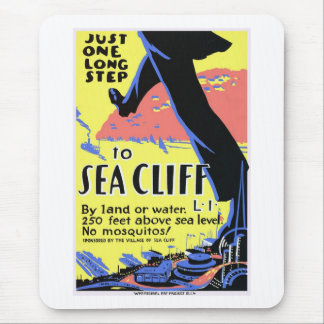 Vintage Sea Cliff Mouse Pad
