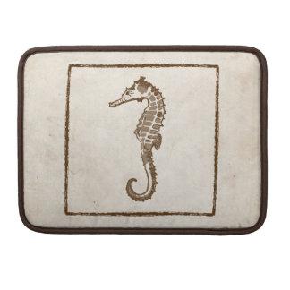 Vintage Sea Horse Beach Sleeve For MacBook Pro