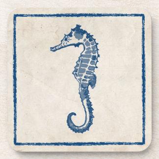 Vintage Sea Horse Beverage Coaster