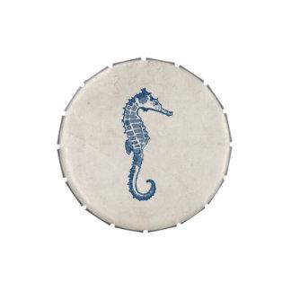 Vintage Sea Horse Candy Tin