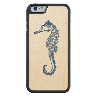 Vintage Sea Horse Carved® Maple iPhone 6 Bumper Case