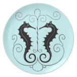 VIntage Sea Horse Design Plates