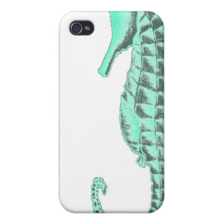 Vintage Sea Horse iPhone 4/4S Covers