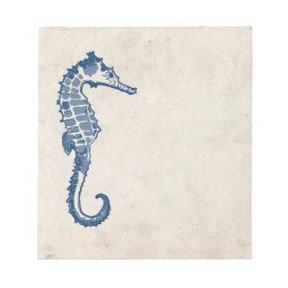 Vintage Sea Horse Memo Note Pad