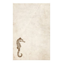 Vintage Sea Horse Stationery