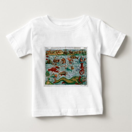 Vintage Sea Monsters Baby T-Shirt