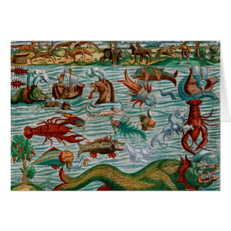 Vintage Sea Monsters Card