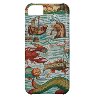 Vintage Sea Monsters Cover For iPhone 5C