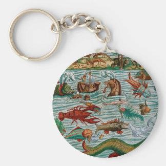 Vintage Sea Monsters Keychain