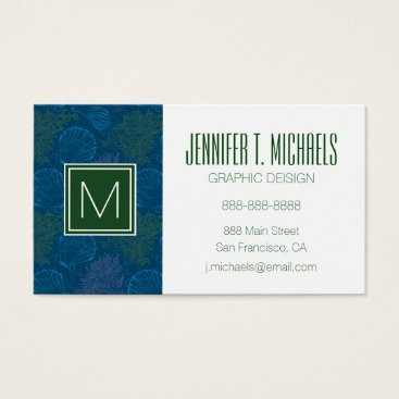 Beach Themed Vintage Sea Pattern Business Card