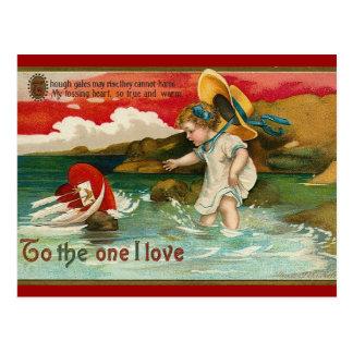 Vintage Sea Sent Valentine Postcard