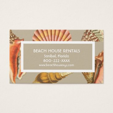 Professional Business Vintage sea shell beach business business card