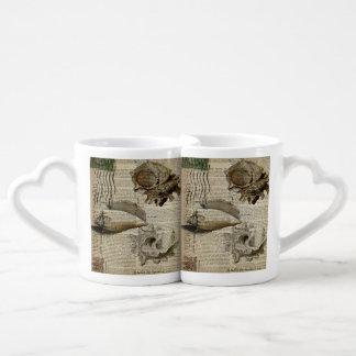 vintage sea shells elegant beach art lovers mug