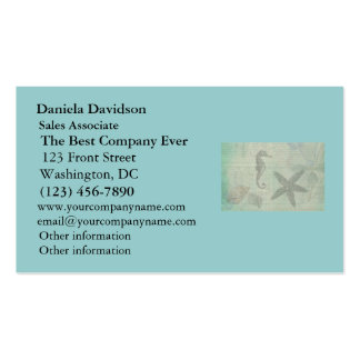 Vintage Sea Shells, Starfish, and SeaHorse Double-Sided Standard Business Cards (Pack Of 100)