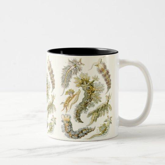 Vintage Sea Slugs and Snails by Ernst Haeckel Two-Tone Coffee Mug