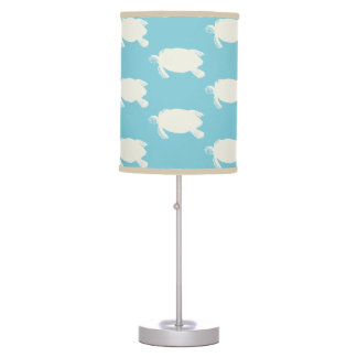 Vintage Sea Turtle Pattern Desk Lamp