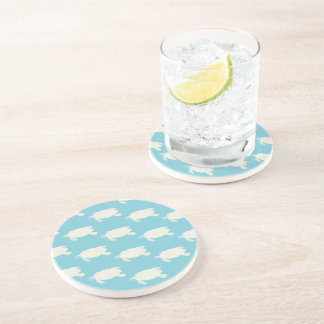Vintage Sea Turtle Pattern Drink Coaster