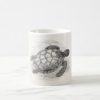 Vintage Sea Turtle Personalized Marine Turtles Coffee Mug