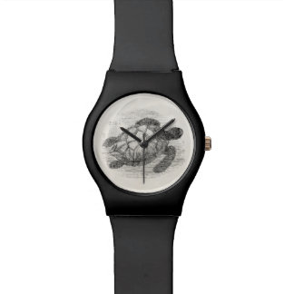 Vintage Sea Turtle Personalized Marine Turtles Wristwatch
