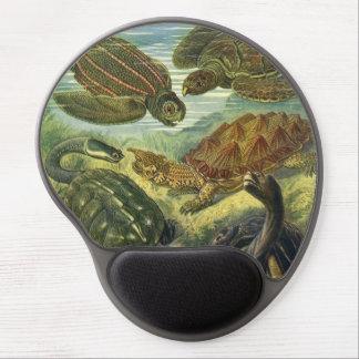 Vintage Sea Turtles and Tortoises by Ernst Haeckel Gel Mouse Pad