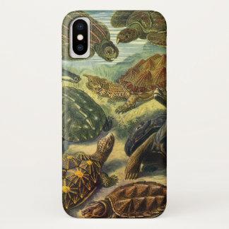Vintage Sea Turtles and Tortoises by Ernst Haeckel iPhone X Case