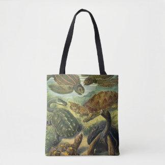 Vintage Sea Turtles and Tortoises by Ernst Haeckel Tote Bag
