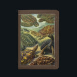 """Vintage Sea Turtles and Tortoises by Ernst Haeckel Trifold Wallet<br><div class=""""desc"""">Vintage illustration marine life biology design,  Chelonia by Ernst Haeckel. A variety of animals,  amphibians and reptiles featuring aquatic sea turtles swimming in the oceans and terrestrial land tortoises.</div>"""