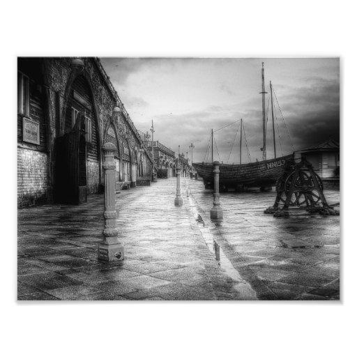 Vintage Seafront Photo Print