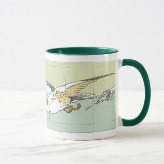 Vintage Seagull Tile Art Coffee Mug