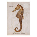 Vintage Seahorse - Antique Seahorses Customized Poster
