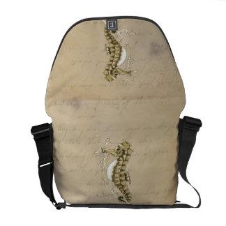 Vintage Seahorse Courier Bag