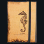 "Vintage Seahorse Illustration iPad Air Cover<br><div class=""desc"">Elegant and accurate pen and ink vintage illustration of a sea horse on a parchment style background. Beach lovers and marine life appreciators enjoy this design!</div>"