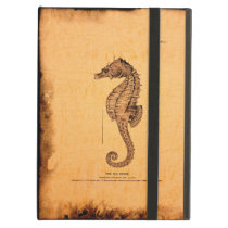 Vintage Seahorse Illustration iPad Air Cover