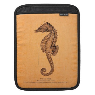 Vintage Seahorse Illustration iPad Sleeve