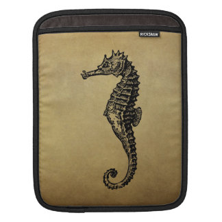 Vintage Seahorse Illustration Sleeves For iPads